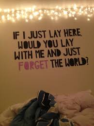 Quote Chasing Cars Snow Patrol Bedroom Wall Forget The