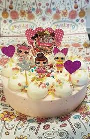 l o l 7 tlg tortendeko torte cupcake topper stecker lol