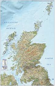 Scotland 1st Level Political Road And Rail Map With High Resolution Regular Relief 750k Scale