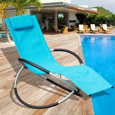 Outdoor Orbital Zero Gravity Folding Rocking Patio Lounge Chair