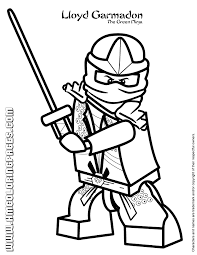 Lloyd Garmadon The Green Ninja Coloring Page