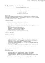 Executive Assistant Resume Objective Templates For Administrative Create My Examples Entry