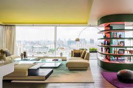 100 Modern Interior Design Colors City Apartment Dazzles With Colors And Curves Curbed