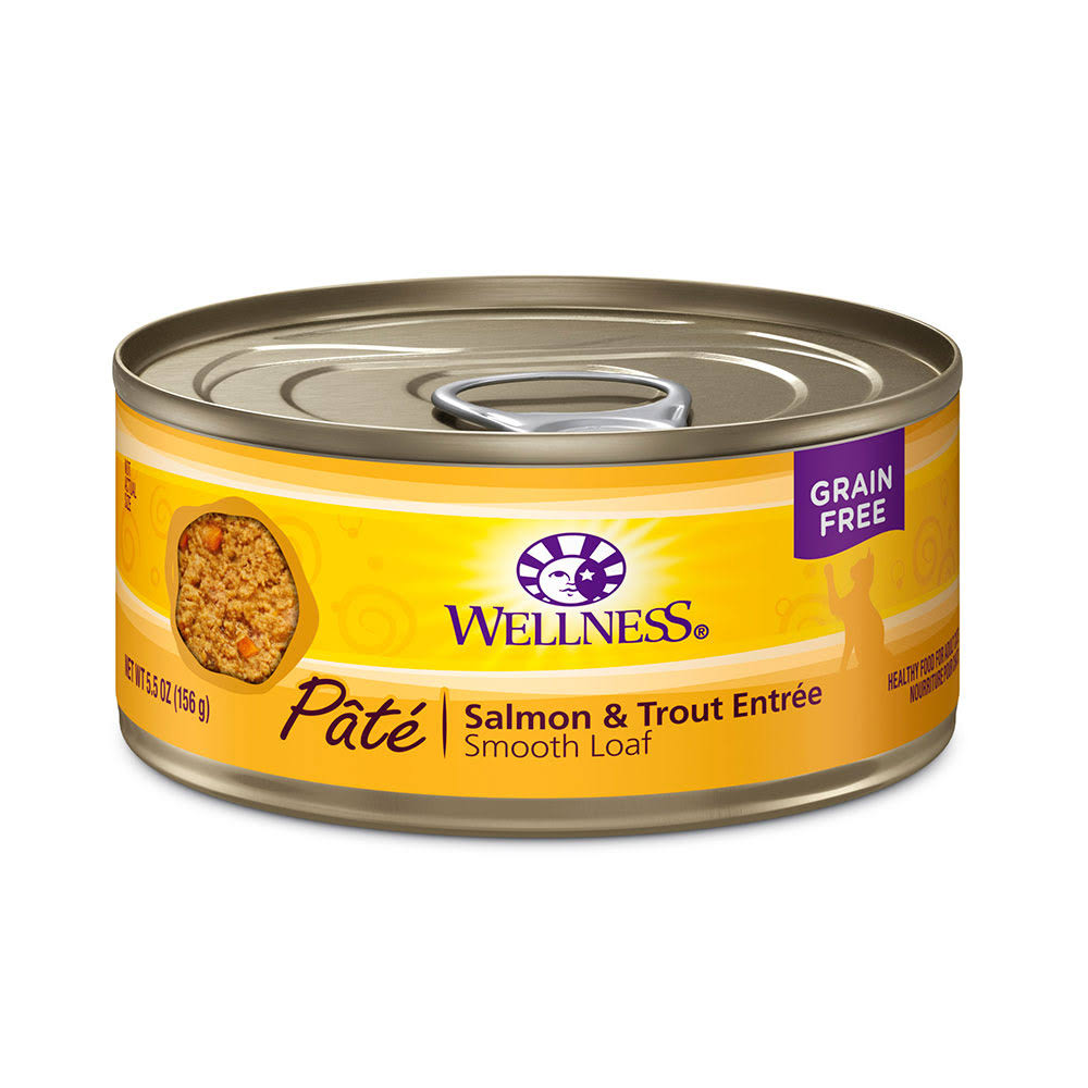 Wellness Salmon & Trout Canned Cat Food 5.5 oz.
