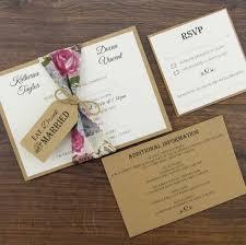 Wedding Invitation Kit Beautiful Diy Rustic Invitations Kits