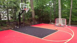 30x40 Basketball-Hockey Court DuraCourt By SnapSports Installed On ... Outdoor Courts For Sport Backyard Basketball Court Gym Floors 6 Reasons To Install A Synlawn Design Enchanting Flooring Backyards Winsome Surfaces And Paint 50 Quecasita Download Cost Garden Splendid A 123 Installation Large Patio Turned System Photo Album Fascating Paver Yard Decor Ideas Building The At The American Center Youtube With Images On And Commercial Facilities