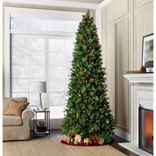 GE 9 Dual Color Valley Pine Pre Lit Christmas Tree With 700 LED Lights