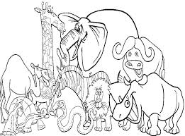 Zoo Animals Coloring Page Animal Book For Kids Feat Printable Pages