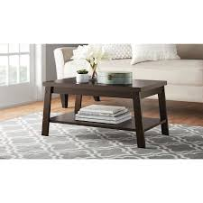 Sofa Snack Table Walmart by Mainstays Logan Coffee Table Multiple Finishes Walmart Com