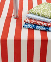 Round Patio Tablecloth With Umbrella Hole by Waverly Outdoor Table Linens 70