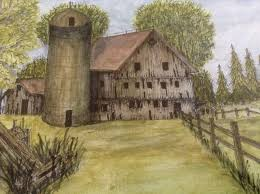 M. Romans, Watercolor Painting, Old Barn With Silo, Works On Paper ... Old Red Farm Barn With Concrete Silo Stock Photo Picture And Yellow With Canada Suzanne Berton Cute And Free Clip Art Barn Silo Donnasdesigns Cornfield A Silos In Rural Wisconsin Filered A Panoramiojpg Wikimedia Commons Image 21504700 Beautiful White 113806882 Shutterstock Photos Images Alamy Barns J F Mazur Fine Studio Playhouse Plan 300ft Wood For Kids Pauls Clipart 33