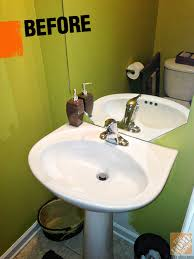 Half Bath Decorating Ideas The Unfortunate Choice Of Green In Erins Before