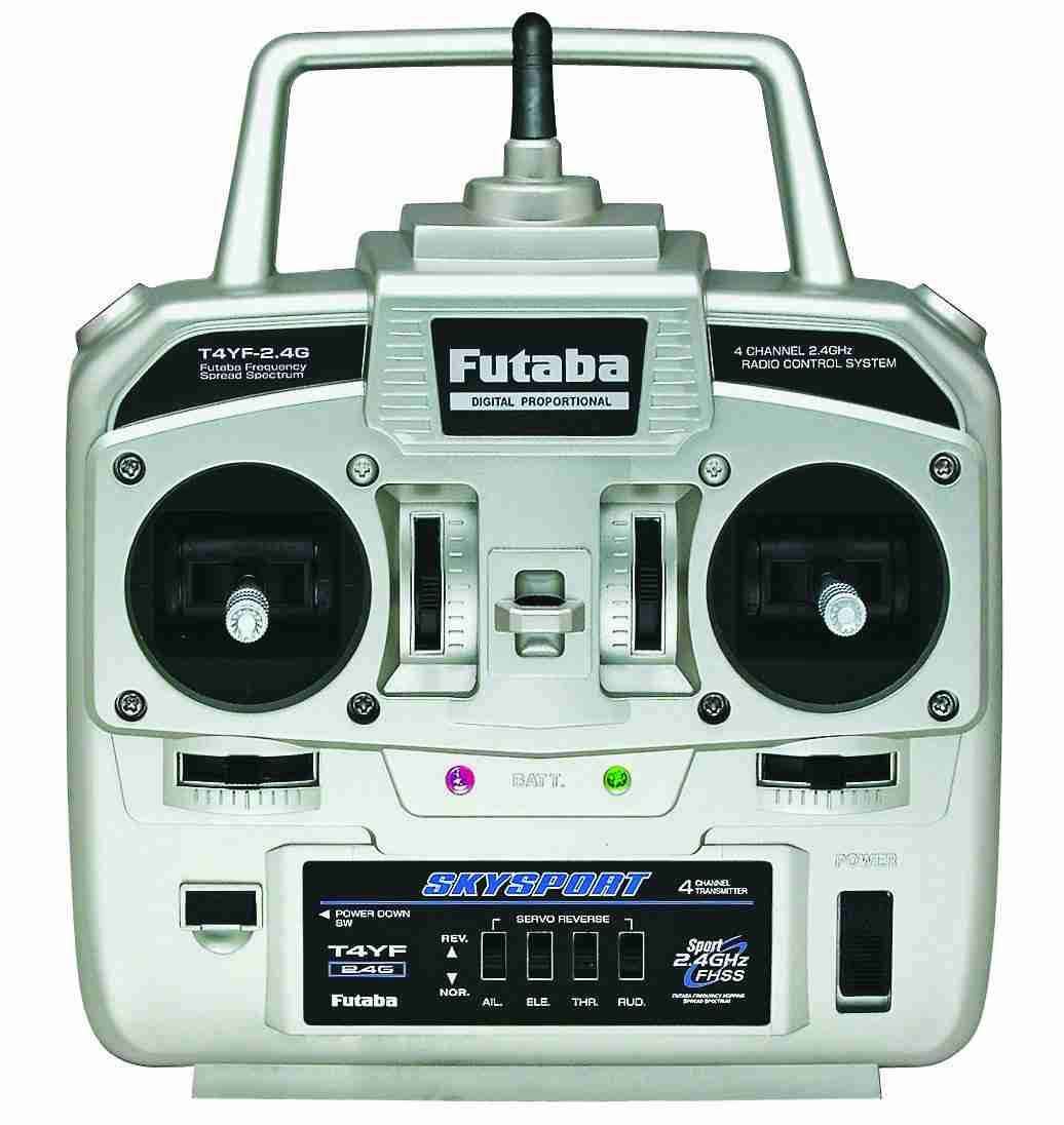 Futaba 4YF 4 Channel FHSS Transmitter & R2004GF Receiver - 2.4GHz, With iD System