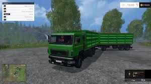 100 Truck And Trailer Games MAZ TRUCK TRAILER V10 Farming Simulator 19 17 15 Mods FS19