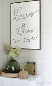 Bless This Mess Painted Sign By Hunt And Gather Goods