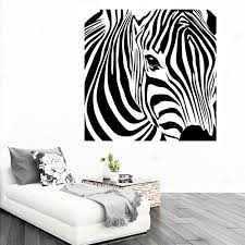 Cacar New Design Geometric Zebra Wall Sticker Abstract Animal Intended For 3D Art
