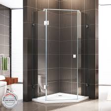 details zu bernstein fünfeck dusche duschkabine duschabtrennung glas echtglas nano