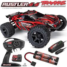 Traxxas 1/10 Rustler 4x4 Brushed Stadium Truck W/Radio/DC Charger ...