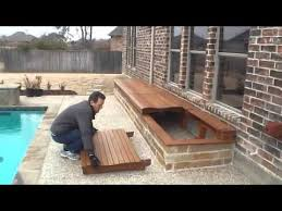 outside storage box for pool deck youtube