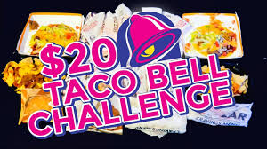 TACO BELL $20 VALUE MENU CHALLENGE!! - YouTube