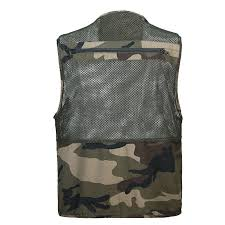 militaire camouflage gilet gilet charlecot hombre multi poche