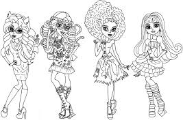 Printable Monster High Coloring Pages Me