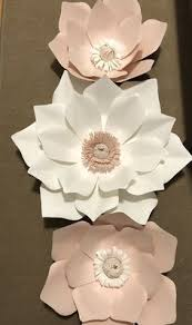 White Blush And Pink Paper Flowers I Used A Small Flashlight To Build The