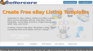 Designed For EBay Sellers Create Free Templates Using Our Auction Listing Generator And HTML Template Design Tools Includes Image Hosting