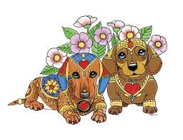Maybe Applique A Pretty Puppy Or Two Etsy Shop Wiener DogsDachshund TattooTattoo IdeasVol 2AnimalDachshundsDoggiesColoring Books Zentangle