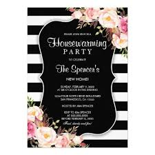 Elegant Floral Stripe Housewarming Invitation Flower InvitationInvitation IdeasHousewarming Party InvitationsBirthday