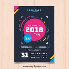 Modern Poster Of New Year 2018