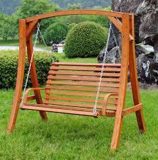 Wooden Swing Garden Cherry Wood Metal Chain