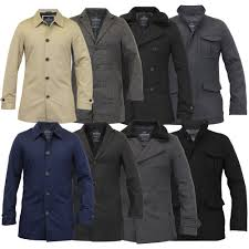 mens wool mix jacket threadbare trench coat blazer tweed sherpa