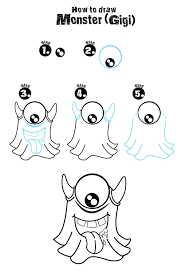 How To Draw A Monster Go Back From How To Draw Cartoon Monsters To ...