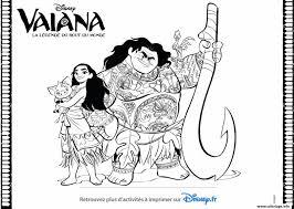 Coloriage Vaiana Disney La Legende Du Bout Du Monde JeColoriecom