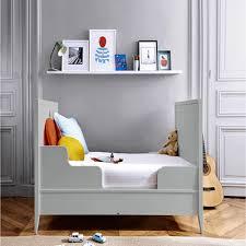 chambre jacadi brume lit bébé évolutif 70x140 cm gris clair jacadi