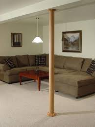 pole wrap basement column covers that conceal and beautify