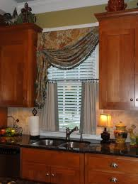 Kitchen Curtain Ideas For Large Windows by Kitchen Bay Window Kitchen Bay Window Treatment Ideas With