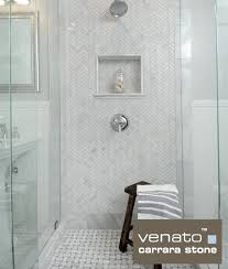 Carrara Marble Tile 12x12 by Venato Marble Shower With 1 3 Herringbone And Basketweave