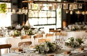 Napa Valley Wedding Tabletop And Distressed Wood Votive Lights Chandelier