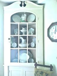 Corner Hutch Cabinet For Dining Room White Small