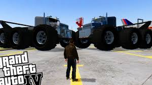 100 Biggest Monster Truck GTA 4 Worlds MONSTER TRUCK GIANT MONSTER TRUCK YouTube