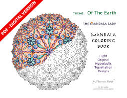 Of The Earth DIGITAL Mandala Coloring Book PDF VERSION