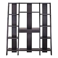 Altra Ladder Bookcase Towers With Desk 11 Shelves Espresso by