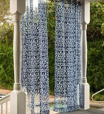 Pottery Barn Outdoor Curtains by Outdoor Banded Drape Pottery Barn Inside Sheer Curtains Best 25