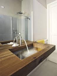 ein holz waschtisch mit glas waschbecken lago schafft