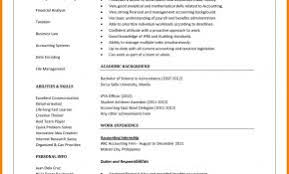 Curriculum Vitae Examples For Accounting Students Unique 11 Cv Samples Accountant