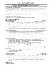 Summary Of Qualifications A Creative Mind With Employment Experience