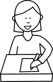 Student Writing Clip Art at Clker vector clip art online