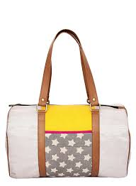 leather travel bags silver yellow tan women desi drama queen